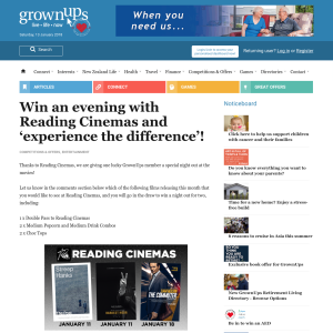 Win an evening with Reading Cinemas and 'experience the difference'