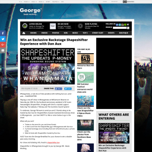 Win an Exclusive Backstage Shapeshifter Experience with Dan Aux