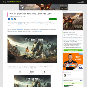 Win an Extinction Xbox One Download Code
