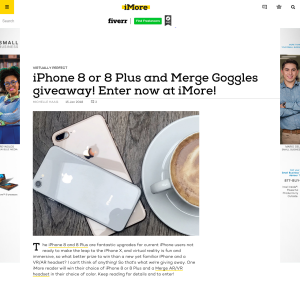 Win an iPhone 8 or 8+ & Merge VR/AR Goggles