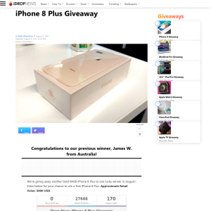 Win an iPhone 8 Plus