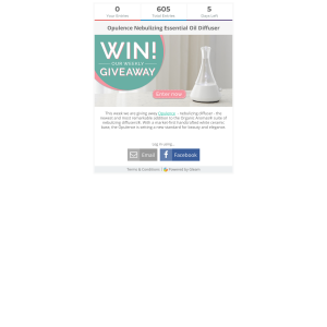 Win an Opulence Nebulizing Essential Oil Diffuser