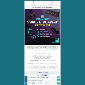 Win an Ultimate Gaming Swag Package