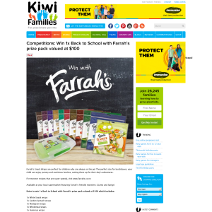 Win Back to School with Farrah's prize pack