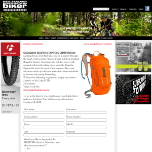 Win Camelbak and entries to the Long MTB