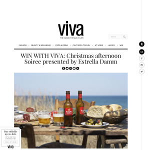 Win Christmas afternoon Soiree presented by Estrella Damm