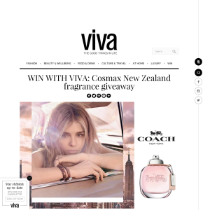 Win Cosmax New Zealand fragrance giveaway