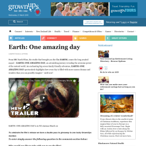 Win double pass to Earth: One amazing day