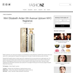 Win Elizabeth Arden 5th Avenue Uptown NYC fragrance