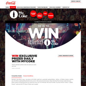 Win Exclusive Prizes Daily with MyCoke