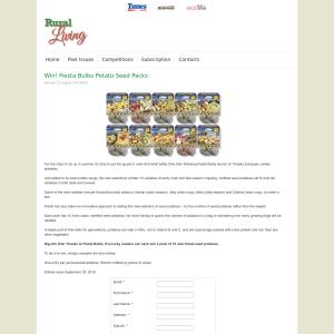 Win Fiesta Bulbs Potato Seed Packs