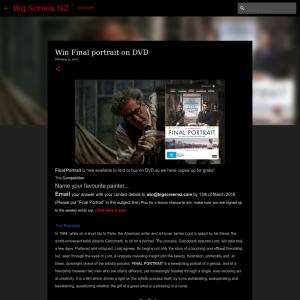 Win Final portrait on DVD