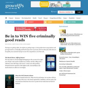 Win five criminally good reads