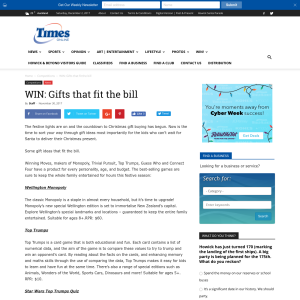 Win Gifts that fit the bill