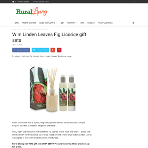 Win! Linden Leaves Fig Licorice gift sets