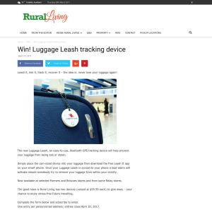 Win! Luggage Leash tracking device