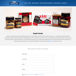 Win one of five Kāre Limited Honey Packs