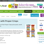 Win one of five Proper Crisps prize packs, worth $40 each
