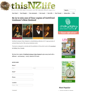 Win one of four copies of Gottfried Lindauer?s New Zealand