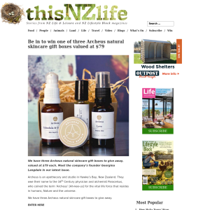 Win one of three Archeus natural skincare gift boxes