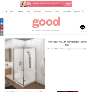 Win one of two DIY showerdome Shower tops