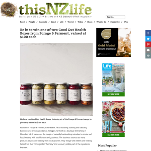 Win one of two Good Gut Health Boxes from Forage & Ferment