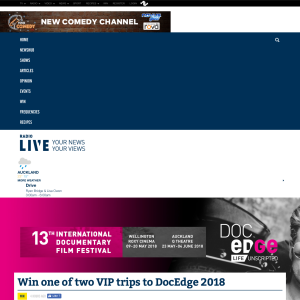 Win one of two VIP trips to DocEdge 2018