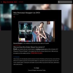 Win Personal Shopper on DVD
