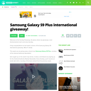 Win Samsung Galaxy S9 Plus