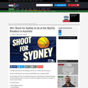 Win Shoot for Sydney giveaway