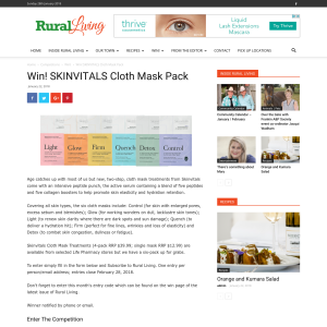 Win SKINVITALS Cloth Mask Pack