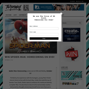 Win Spider-Man: Homecoming on DVD