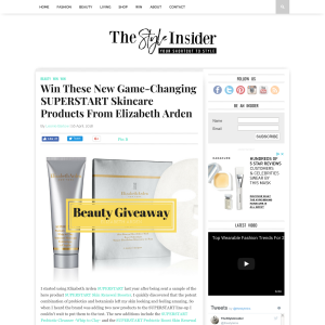 Win Superstart Skincare Products from Elizabeth Arden