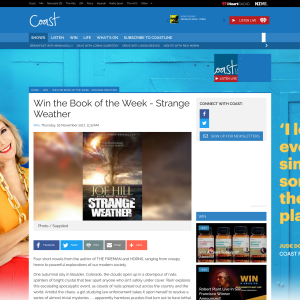 Win the Book of the Week - Strange Weather