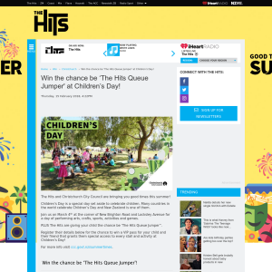 Win the chance be 'The Hits Queue Jumper' at Children's Day
