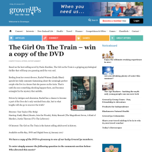 Win The Girl On The Train DVD