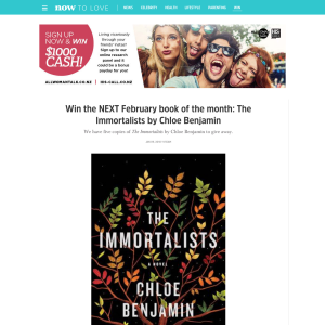 Win The Immortalists by Chloe Benjamin