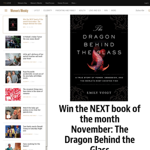 Win the NEXT book of the month November: The Dragon Behind the Glass