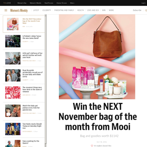 Win the NEXT November bag of the month from Mooi