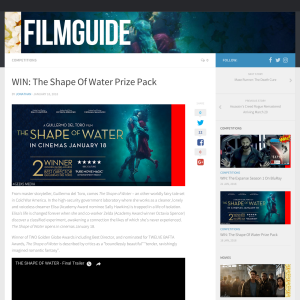 Win The Shape Of Water Prize Pack