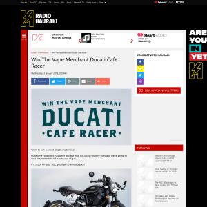 Win The Vape Merchant Ducati Cafe Racer