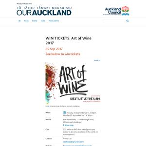 WIN TICKETS: Art of Wine 2017