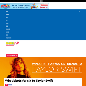 Win tickets for six to Taylor Swift