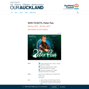Win tickets: Peter Pan