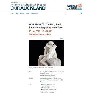 Win Tickets: The Body Laid Bare Masterpieces from Tate