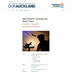 Win tickets: The Road That Wasn't There