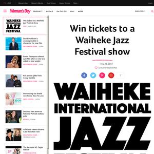 Win tickets to a Waiheke Jazz Festival show