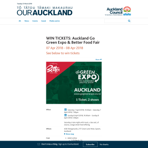 Win tickets to Auckland Go Green Expo & Better Food Fair