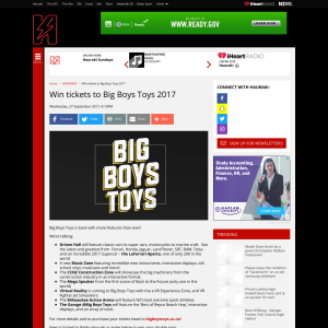 Win tickets to Big Boys Toys 2017