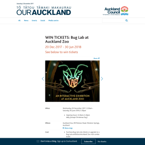 Win tickets to Bug Lab at Auckland Zoo